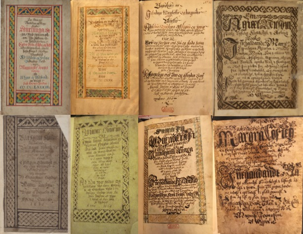 Eight title pages